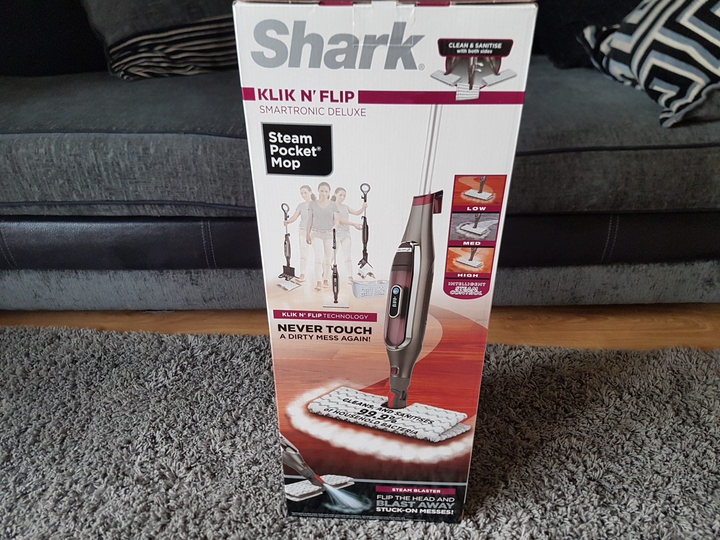 Shark Klik n' Flip Automatic Steam Pocket Mop S6003UK-My review