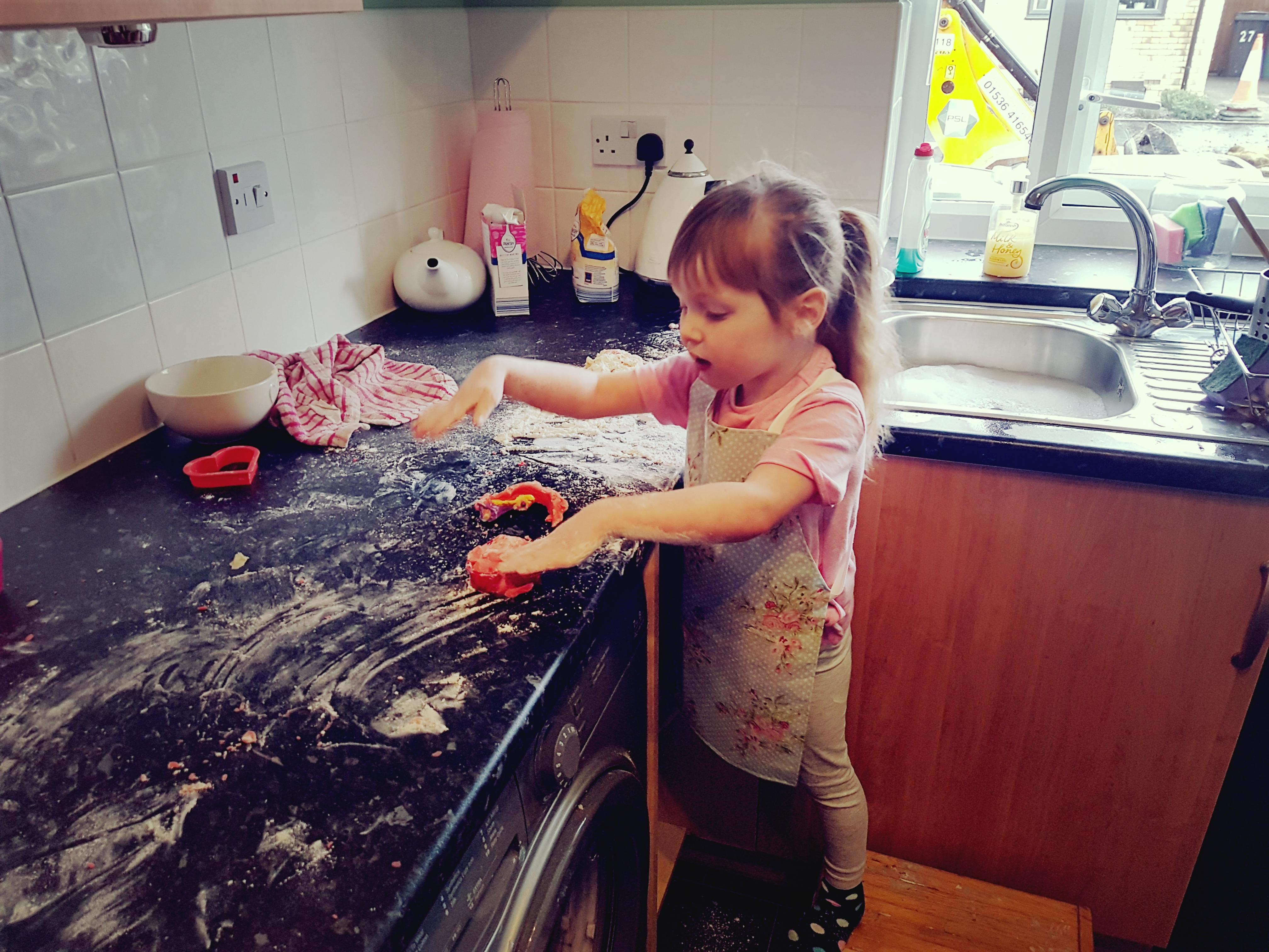 Emily baking cookies