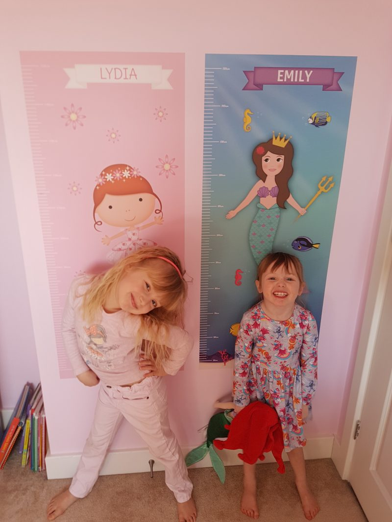 personalised parties height chart