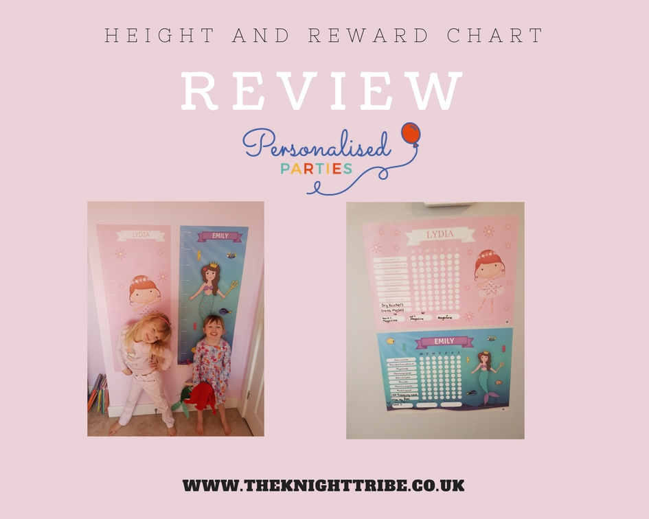 Personalised Height and reward charts-Personalised Parties