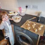 Chocolate Chip Cookies Baking