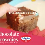 brownies- baking with daddy