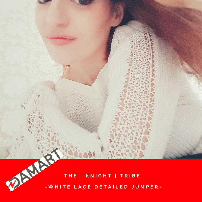 White lace detailed sweater from Damart