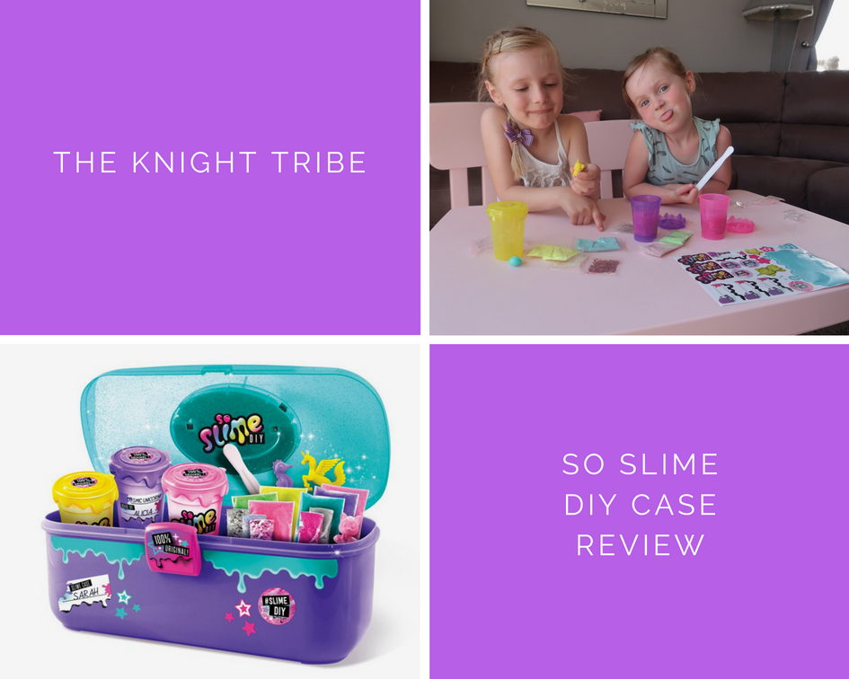 So slime DIY neon with glitter case- Review