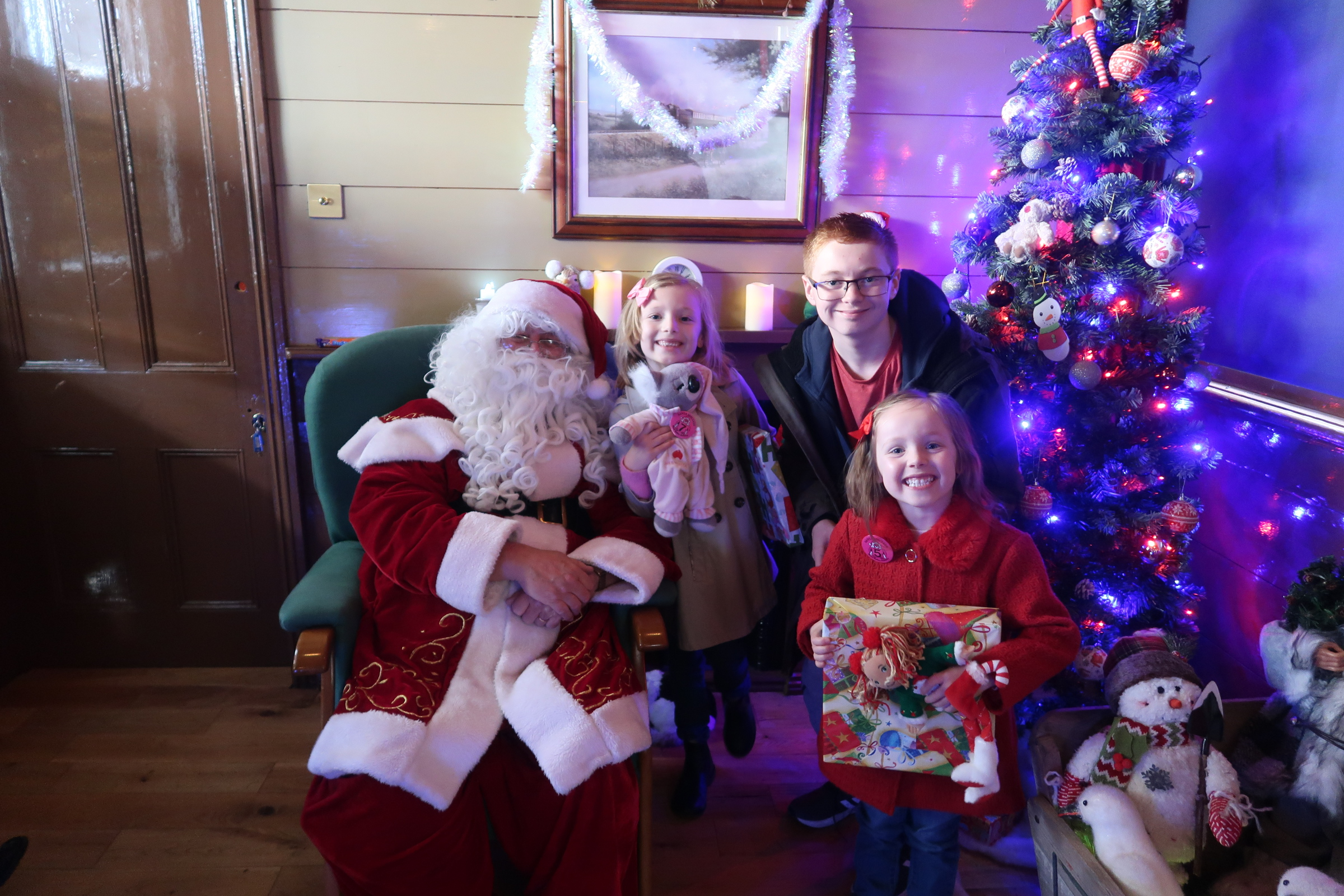 We went on the Santa Express in Wansford